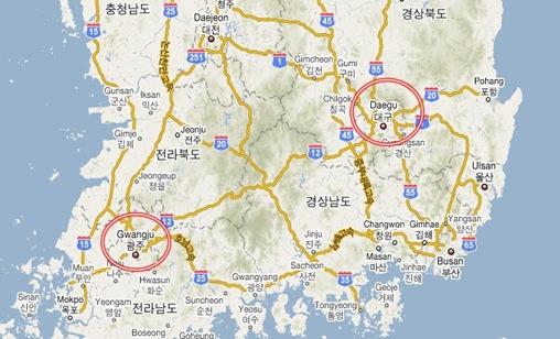 gwangju map