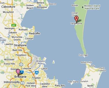 moreton island map