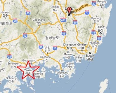 yeosu map