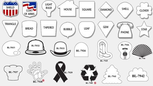 fan shapes